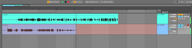 Ableton overdub track