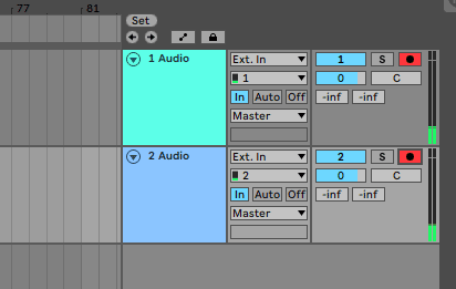 Ableton arm two tracks