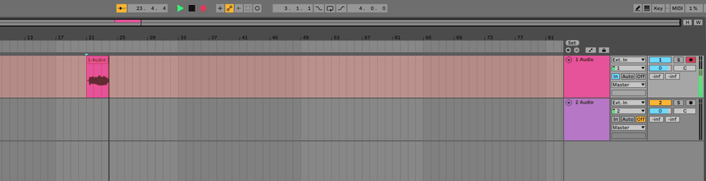 Ableton recording guitar track
