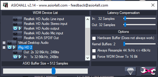 ASIO4ALL advanced settings