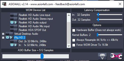 ASIO4ALL advanced settings
