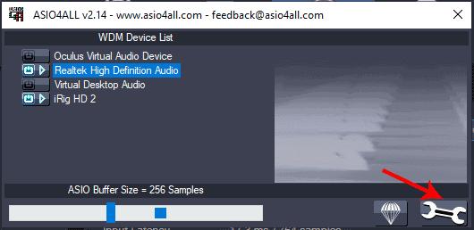 ASIO4ALL basic settings