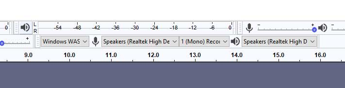 Audacity audio input and output