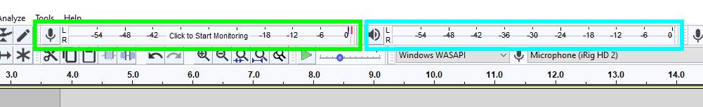 Audacity audio levels