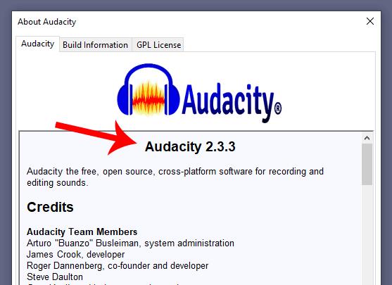Audacity current version