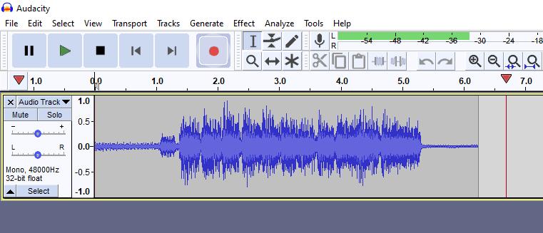 Audacity good input level in recording