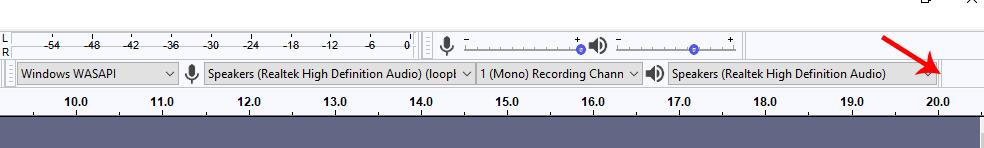 Audacity inputs panel