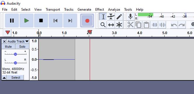 Audacity recording audio
