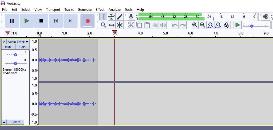 Audacity recording stereo