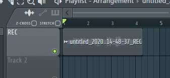 FL Studio audio clip
