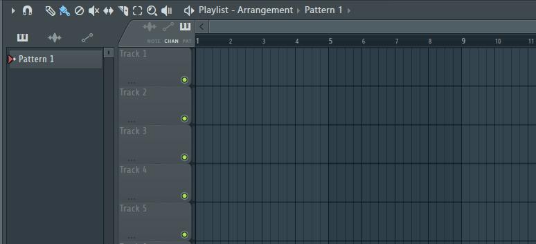 FL Studio playlist view