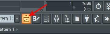 FL Studio playlist button