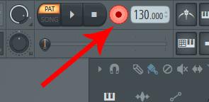 FL Studio record button