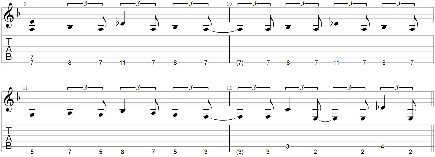 Muse Psycho Guitar Riff TAB 3