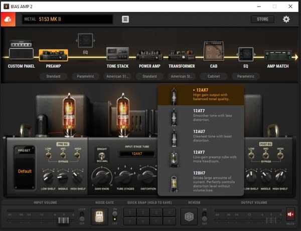 BIAS AMP 2 tubes options