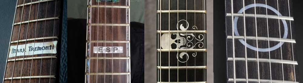 Guitar custom 12 fret inlays