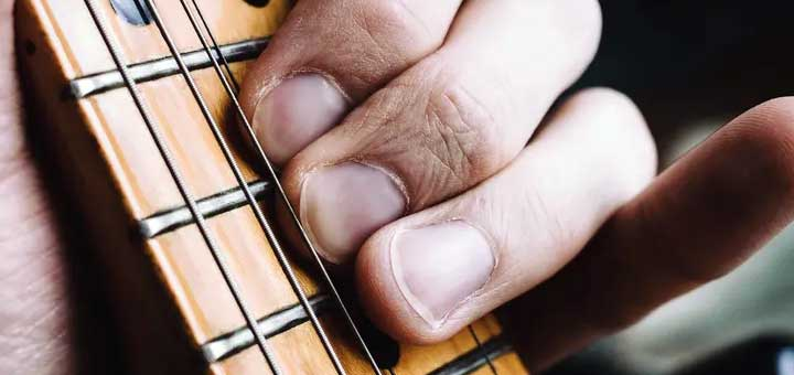 Guitar finger pain