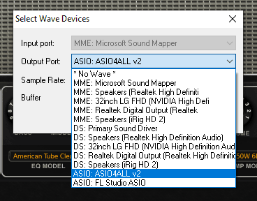 SAVIHost audio settings