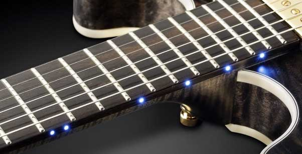 Side LED dots guitar