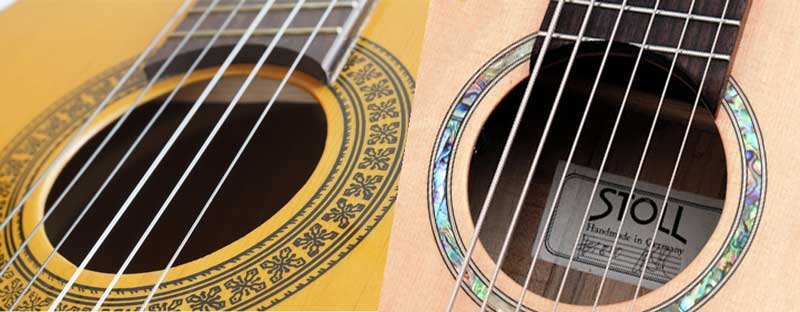 Steel vs nylon string guitars
