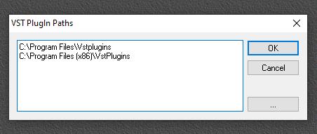 VSTHost plugins folders