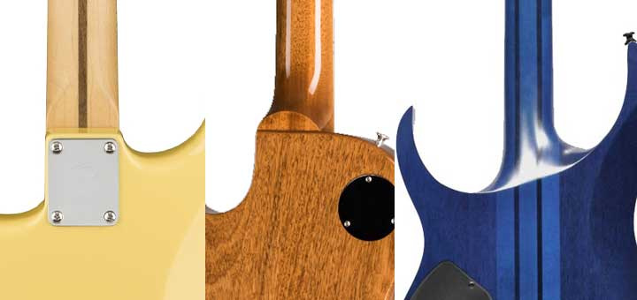 Guitar neck joint types
