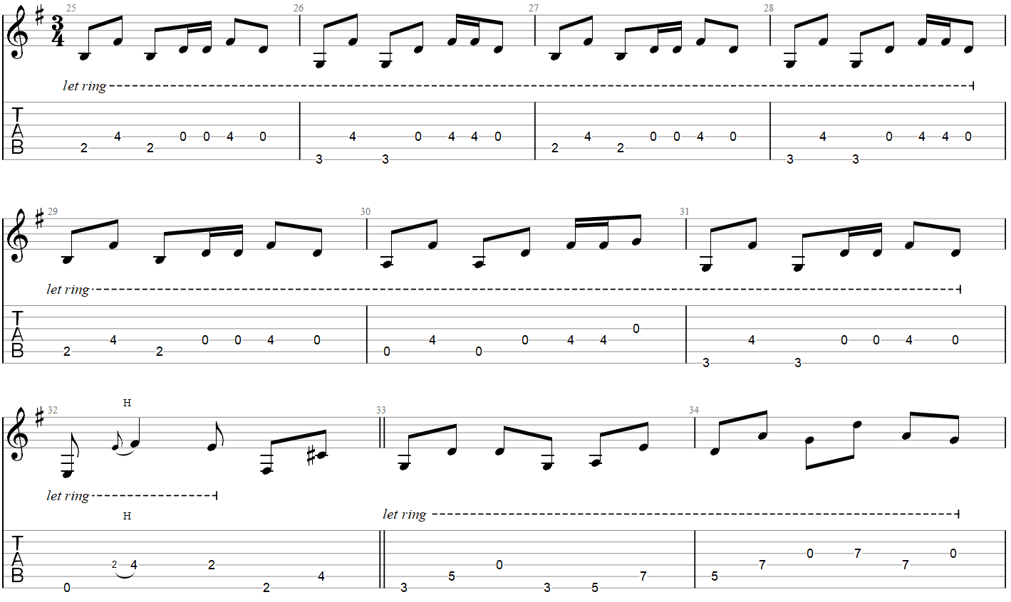 Metallica One Guitar TAB part 2
