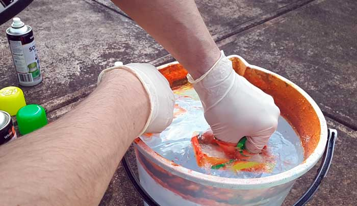 Hydro dip clear paint