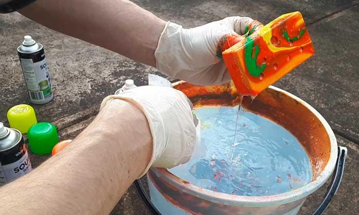 Hydro dip remove pedal