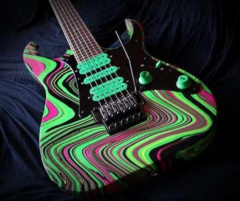 Ibanez swirl guitar