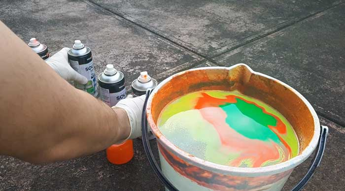 Preparing hydro dip