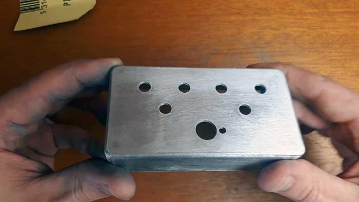 Sanded guitar pedal enclosure