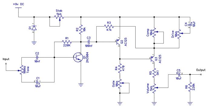 Berserker fuzz pedal schematic