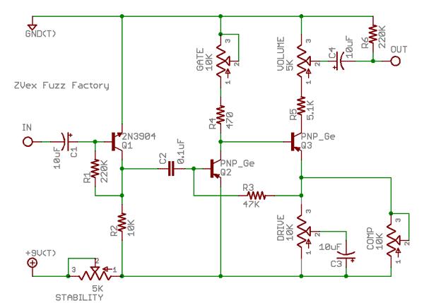 Fuzz Factory schematic