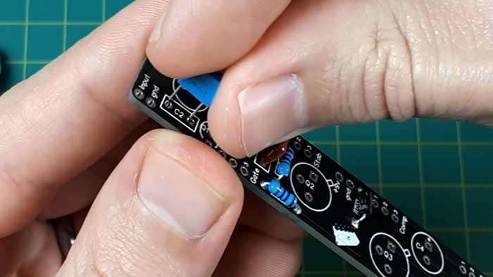 Guitar pedal capacitors