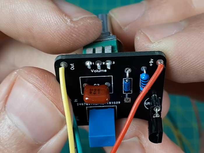 Installed potentiometer