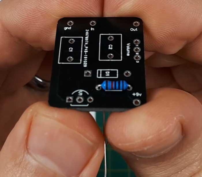 Installed resistor on PCB