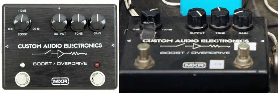 Slash boost overdrive pedal settings