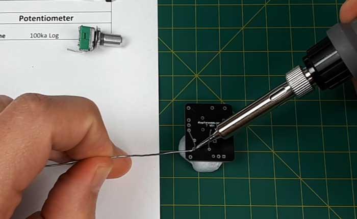 Soldering resistor to PCB