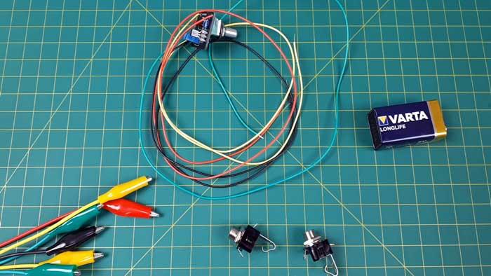 Testing guitar pedal circuit