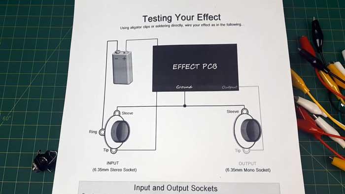 Testing guitar pedal circuit diagram