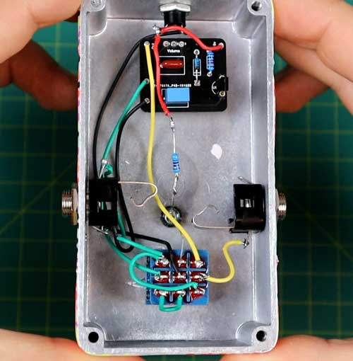 Completed pedal wiring