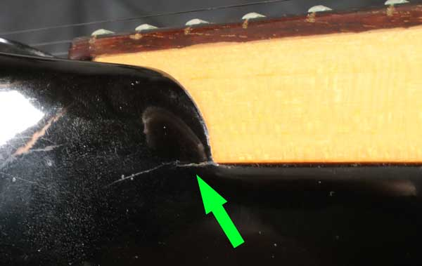 Guitar neck joint crack