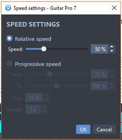 Guitar Pro relative speed