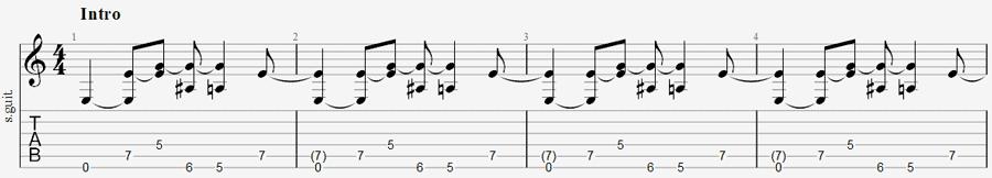 Enter sandman opening riff