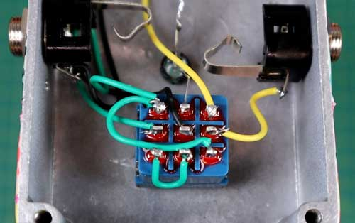 Pedal footswitch wiring