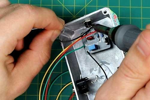 Soldering pedal hardware