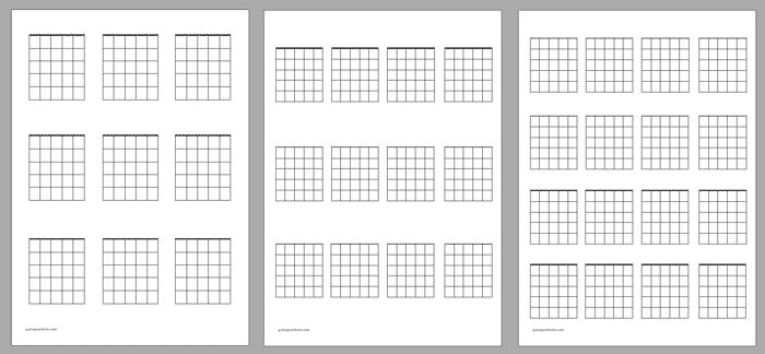Blank guitar chord charts pdf