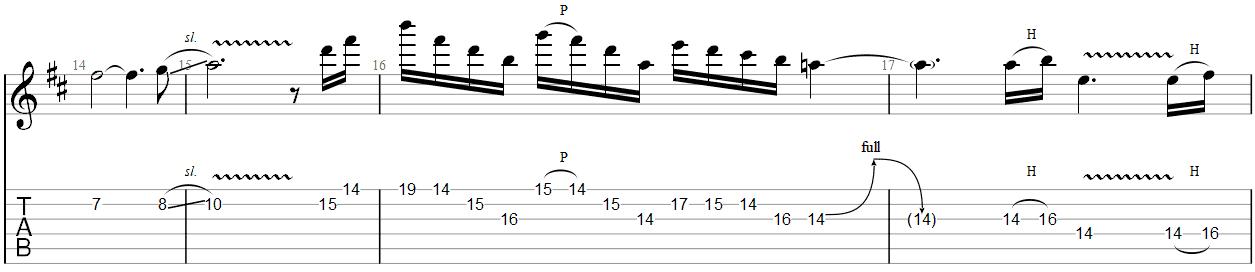 Fade to Black Guitar Solo TAB 3