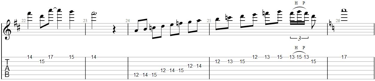 Fade to Black Guitar Solo TAB 5